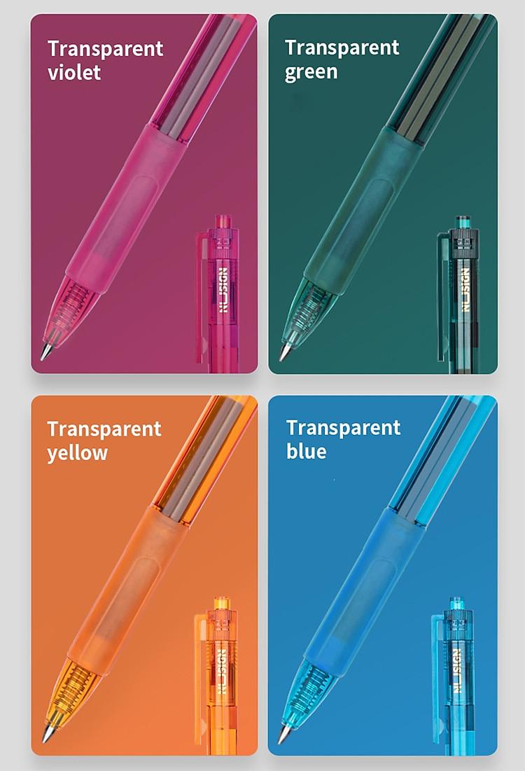 Bút Bi Dạng Gel Viết Chữ Đẹp NUSIGN (Đầu Bi 0.55mm) 5
