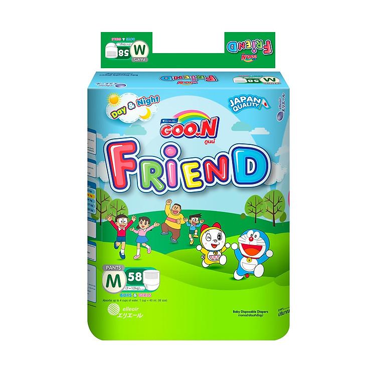 Bỉm quần Goon Friend size M 58 miếng (cho bé từ 7 - 12kg)