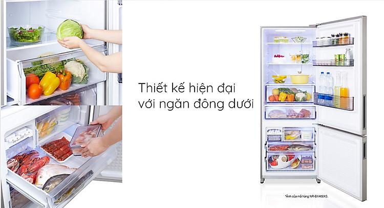 Tủ lạnh Panasonic NR-BV360QSVN Thiết kế hiện đại với ngăn đông dưới