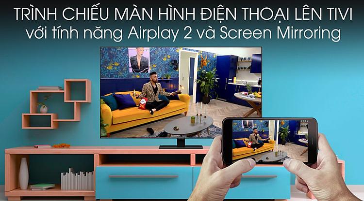 Chiếu màn hình - Smart Tivi QLED Samsung 4K 55 inch QA55Q80TA