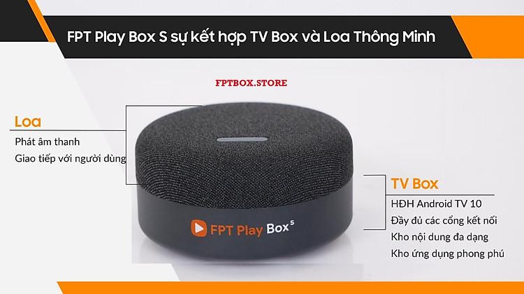 FPT Play Box S 2021 Chính hãng FPT Telecom (Mã T590) Kết hợp Tivi Box và Loa thông minh 5