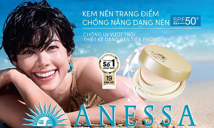 Kem Nền Trang Điểm Chô ng Nă ng Dươ ng Da Dạng Nén Anessa Perfect UV Skincare Base Makeup SPF50+ PA+++ 10g 5