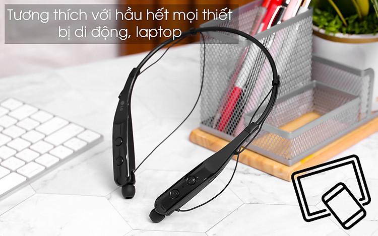 Kết nối được nhiều thiết bị có hỗ trợ bluetooth - Tai nghe Bluetooth LG HBS-510 Đen