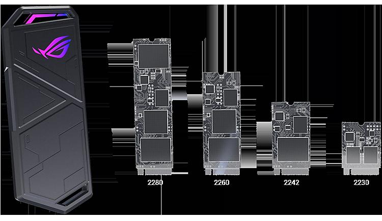 Hộp Đựng Ổ Cứng Di Động SSD ASUS ROG Strix Arion Lite ESD-S1CL - Hàng Chính Hãng 3