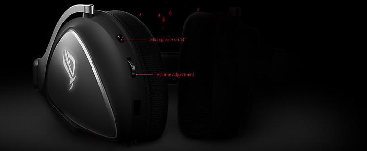 Tai nghe Asus ROG Delta Core tích hợp công cụ điều chỉnh ngay trên củ tai