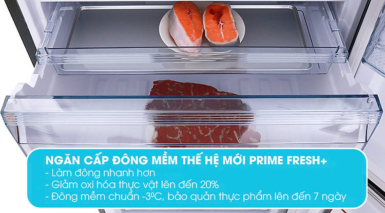 Prime Fresh Plus Tủ lạnh Panasonic Inverter 410 lít NR-BX460WKVN