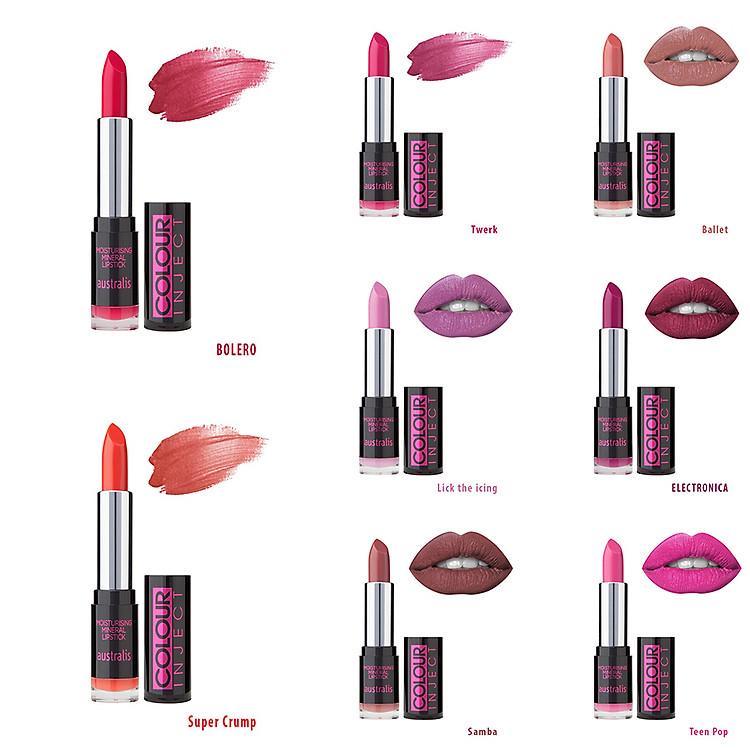 Son Lì Colour Inject Lipstick Australis Úc 1