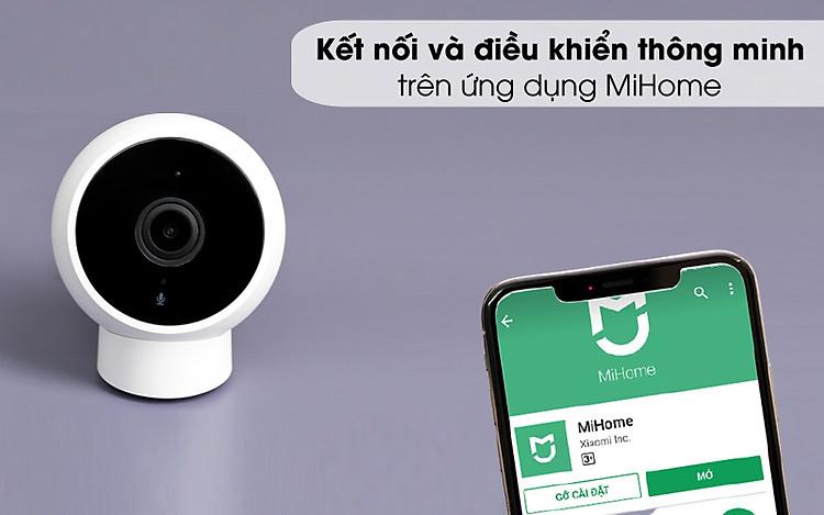 Kết nối với điện thoại qua ứng dụng MiHome - Camera IP 1080P Xiaomi Mi Home Magnetic Mount QDJ4065GL Trắng