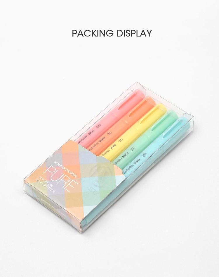 Xiaomi KACO 5 màu Bút dạ quang Bộ bút chì màu nổi bật cho trường học Bút đánh dấu VĂN PHÒNG 10