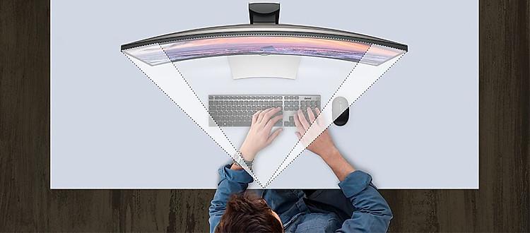 Màn hình Dell U3419W: Đánh mất chính mình trong các chế độ xem toàn diện