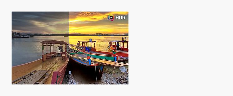 HDR, hỗ trợ các mức màu và độ sáng nhất định, so với SDR, hiển thị nội dung với màu sắc ấn tượng