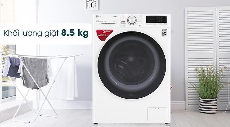 Máy giặt LG Inverter 8.5 kg FV1408S4W - Khối lượng