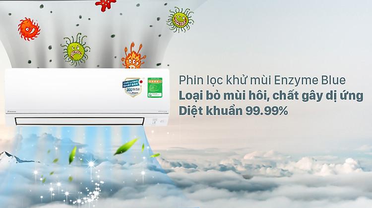 Máy lạnh 2 chiều Daikin Inverter 2 HP FTHF50VVMV - Phin lọc Enzyme Blue