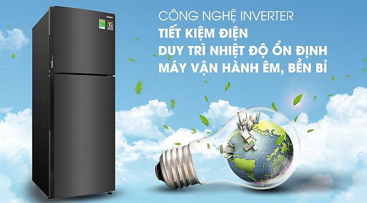 Công nghệ Inverter - Tủ lạnh Aqua Inverter 235 lít AQR-T249MA PB