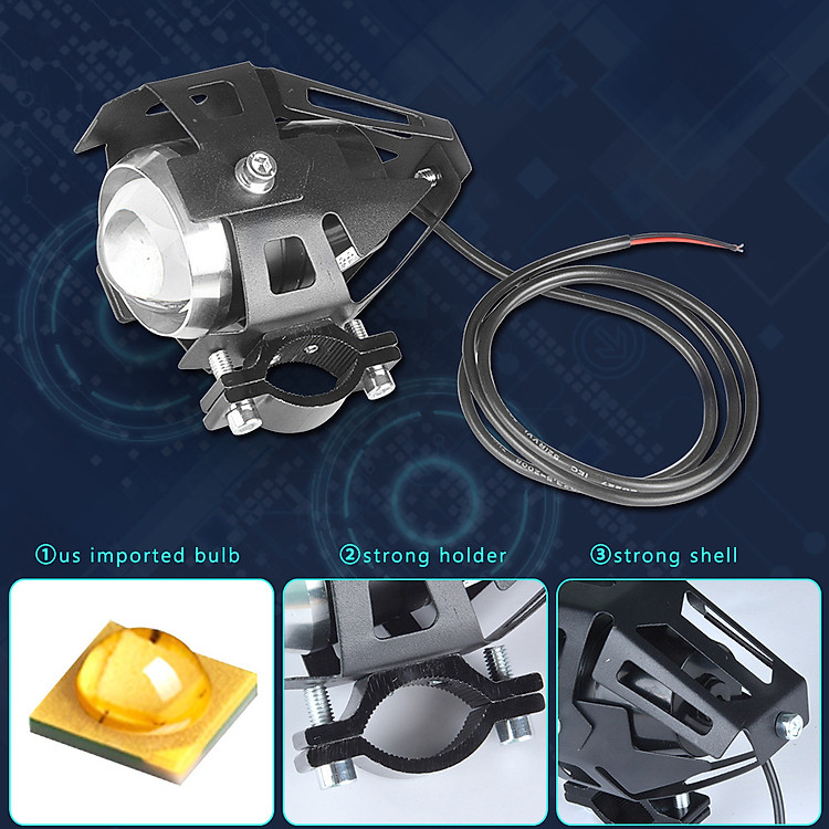 U5 Motorcycle LED Spotlight Motorcycle U5 LED Headlamp 2PCS