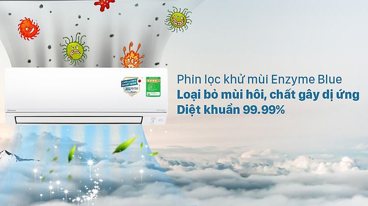 Máy lạnh 2 chiều Daikin Inverter 1 HP FTHF25VAVMV - Phin lọc Enzyme Blue
