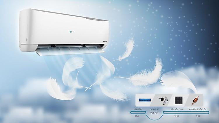 Điều hòa Casper 1 HP EH-09TL22 (2 chiều) với động cơ êm ái tiện lợi