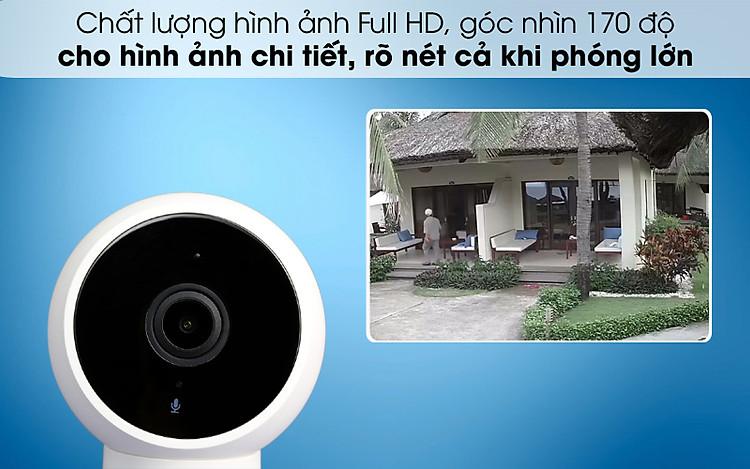 Hình ảnh quan sát chất lượng cao - Camera IP 1080P Xiaomi Mi Home Magnetic Mount QDJ4065GL Trắng