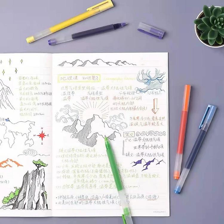 Bút viết Xiaomi 0,5mm gel bút đồ dùng học tập văn phòng phẩm 5 cái bút viết màu 7