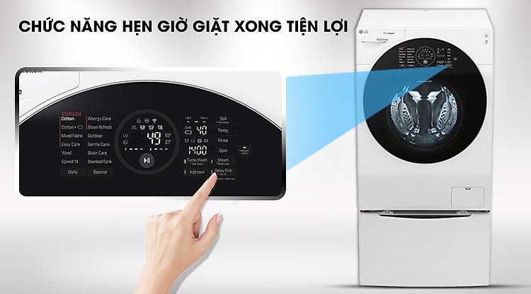 Hẹn giờ giặt tiện lợi - Máy giặt sấy LG TWINWash Inverter 10.5 kg FG1405H3W1 & TG2402NTWW