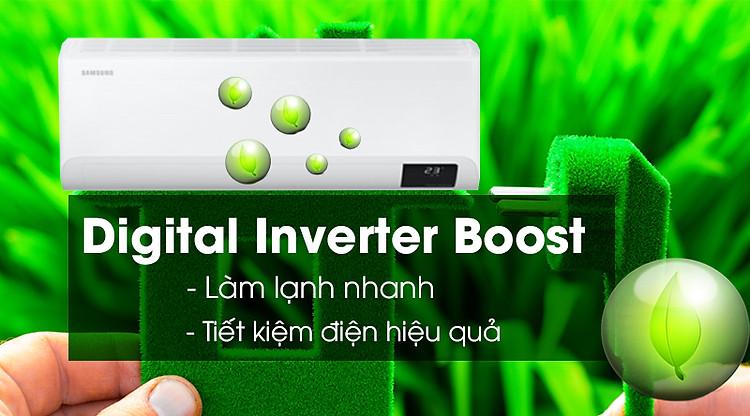 Máy lạnh Samsung Inverter 1 HP AR10TYHYCWKNSV-Làm lạnh nhanh, tiết kiệm điện hiệu quả nhờ Digital Inverter Boost