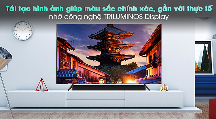 Android Tivi OLED Sony 4K 65 inch KD-65A8H - Công nghệ Triluminos Display