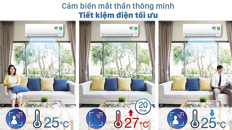 Máy lạnh 2 chiều Daikin Inverter 1.5 HP FTHF35VAVMV - Cảm biến mắt thần thông minh