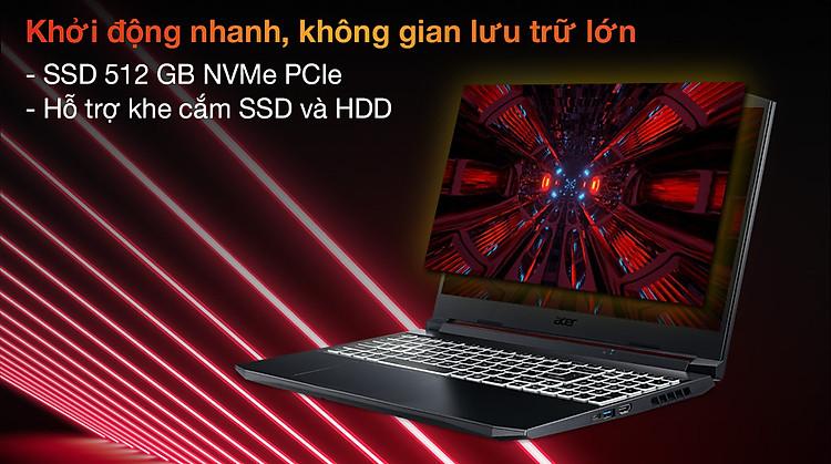Acer Nitro 5 Gaming AN515 57 50FT i5 11400H (NH.QD8SV.003) - SSD