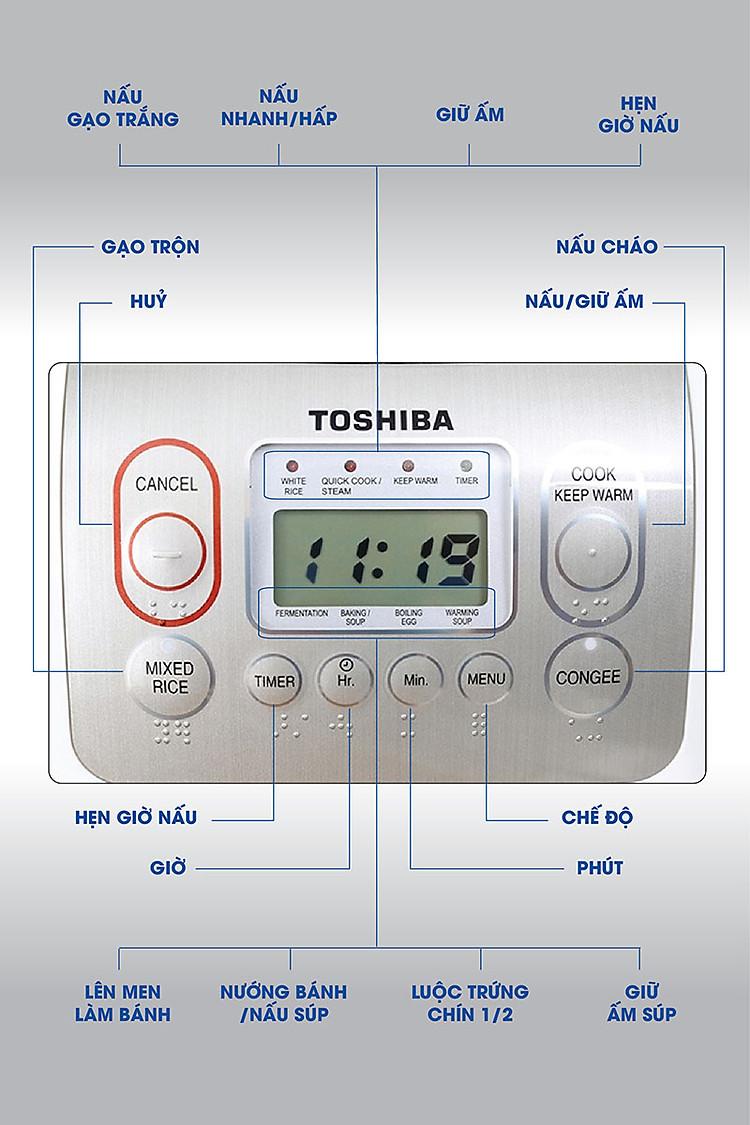 Nồi cơm điện tử Toshiba 1.8 lít RC-18NMFVN(WT)
