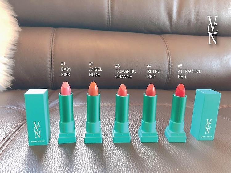 Son Lì VCN Matte Lipstick Full 5 Màu 1
