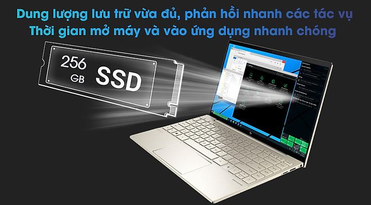 Laptop HP Envy 13 ba1027TU i5 1135G7/8GB/256GB/Office H&S2019/Win10 (2K0B1PA) - trang bị ổ cứng SSD 256 GB