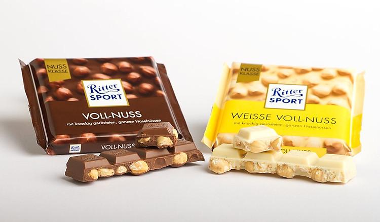 Kết quả hình ảnh cho Ritter Sport Weisse Voll-Nuss