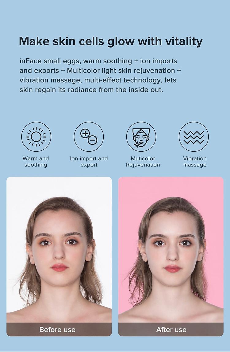 Xiaomi InFace Mặt Rung Nhiều Màu Trẻ Hóa Ion Máy Massage Mặt Làm Đẹp Chăm Sóc Da Mặt 4