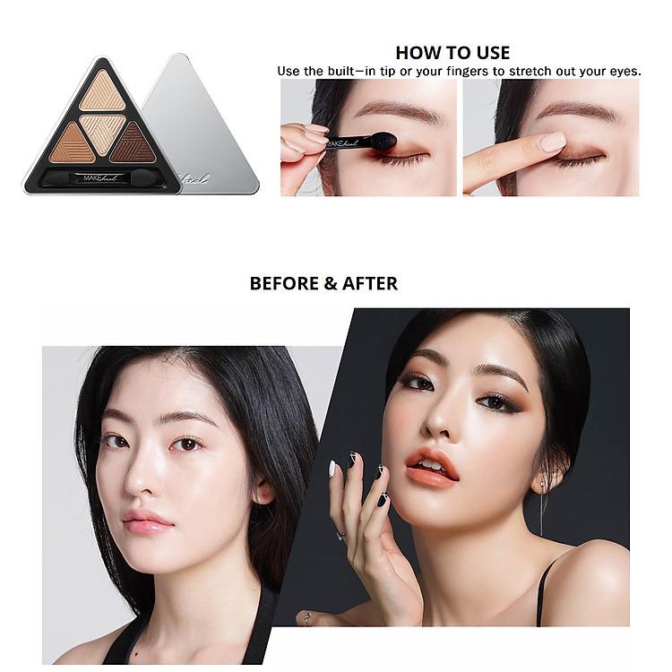 Bảng Phấn Mắt 4 Màu MAKEheal Hidden Triangle Palette 4g 8