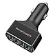 Sạc Xe Hơi 4 Cổng USB QC3.0 RAVPower VC003 (54W) – Đen - Hàng Chính Hãng