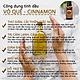 Tinh dầu Vỏ quế cao cấp 50ML Cinnamon. Tinh dầu xông phòng Vemoda giúp khử mùi, thư giãn, cải thiện giấc ngủ, trị cảm lạnh, giảm đau nhức, giảm mỡ bụng hiệu quả
