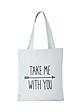 Túi Vải Đeo Vai Tote Take Me XinhStore - Trắng