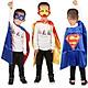 Combo choàng và mặt nạ nhân vật siêu anh hùng Superman