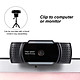 1080P USB Webcam 5MP Auto Focus Web Camera Built-in Sound-absorbing Microphone Drive-free Camera for PC Laptop Black