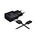 Bộ sạc nhanh Adapter Fast Charging (Trắng/đen) dành cho các dòng máy Samsung dùng cáp Type C - Hàng nhập khẩu