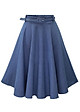 Chân váy xòe chữ A Denim kèm dây đai cao cấp free size mẫu bán chạy VAY10