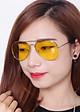 Bộ 2 Mắt Kính Đi Đêm Night View Glasses (Màu Vàng)