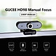 GUCEE HD98 1080P Webcam Manual Focus Computer Camera Built-in Microphone Drive-free Camera for PC Laptop Black