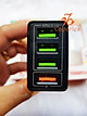 Củ Sạc Nhanh Quick Charge 3.0 Siêu Bền, 4 cổng USB , Chống Nóng, Sạc Nhanh 3.0 - Chính Hãng CAPARIES VIỆT NAM
