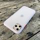 Ốp lưng chống sốc dành cho iPhone 11 Pro nút bấm màu đỏ - Màu trắng
