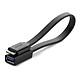 Dây Micro USB 3.0 OTG sang USB 3.0 dạng dẹt cho Samsung Note 3/S5/I9600/G900... dài 20CM UGREEN US127 10801 (đen) - Hàng chính hãng