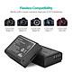 Bộ 2 Pin + Sạc Đôi RAVPower Canon LP-E10 Cho Canon 3000D, 1500D, 1300D, 1200D, 1100D (Hàng Chính Hãng)