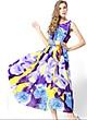 Đầm maxi đẹp kiểu đầm xòe in hoa trẻ trung SANGCHANH1561