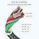 Cáp dù sạc nhanh kết nối Micro USB Bagi 20cm MS20 - Hàng chính hãng