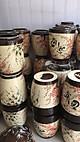 Hũ đựng gạo Bát Tràng vẽ hoa đào loại 20kg